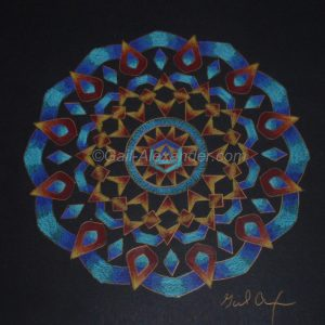 Let the Light Shine In Mandala by Gail Alexander