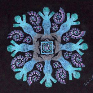 Mer People Mandala by Gail Alexander