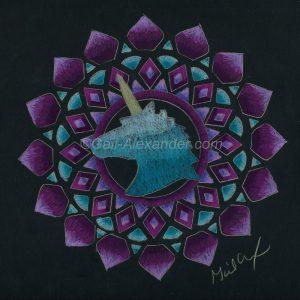 Unicorn Mandala by Gail Alexander