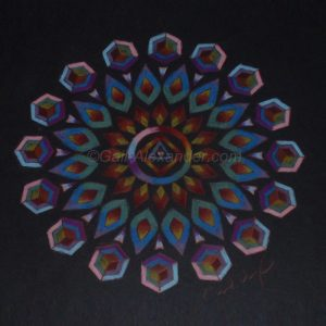 Warrior of the Rainbow Light Mandala by Gail Alexander