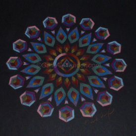 Warrior of the Rainbow Light Mandala