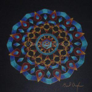 Let the Light Shine In Mandala by Gail Alexander