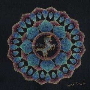 Power of Unicorns Mandala by Gail Alexander