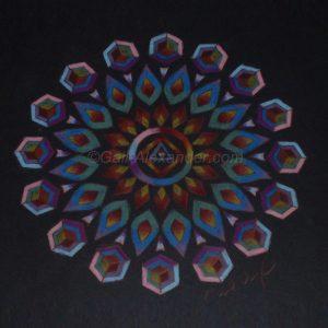Warrior of the Rainbow Light Mandala by Gail Alexander