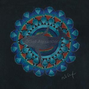 Whale Energy Mandala by Gail Alexander
